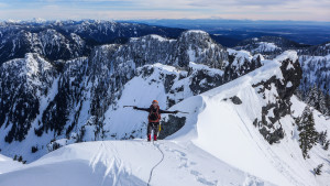 Stoked to reach the ridge! Photo: Dakotah Fozzard.
