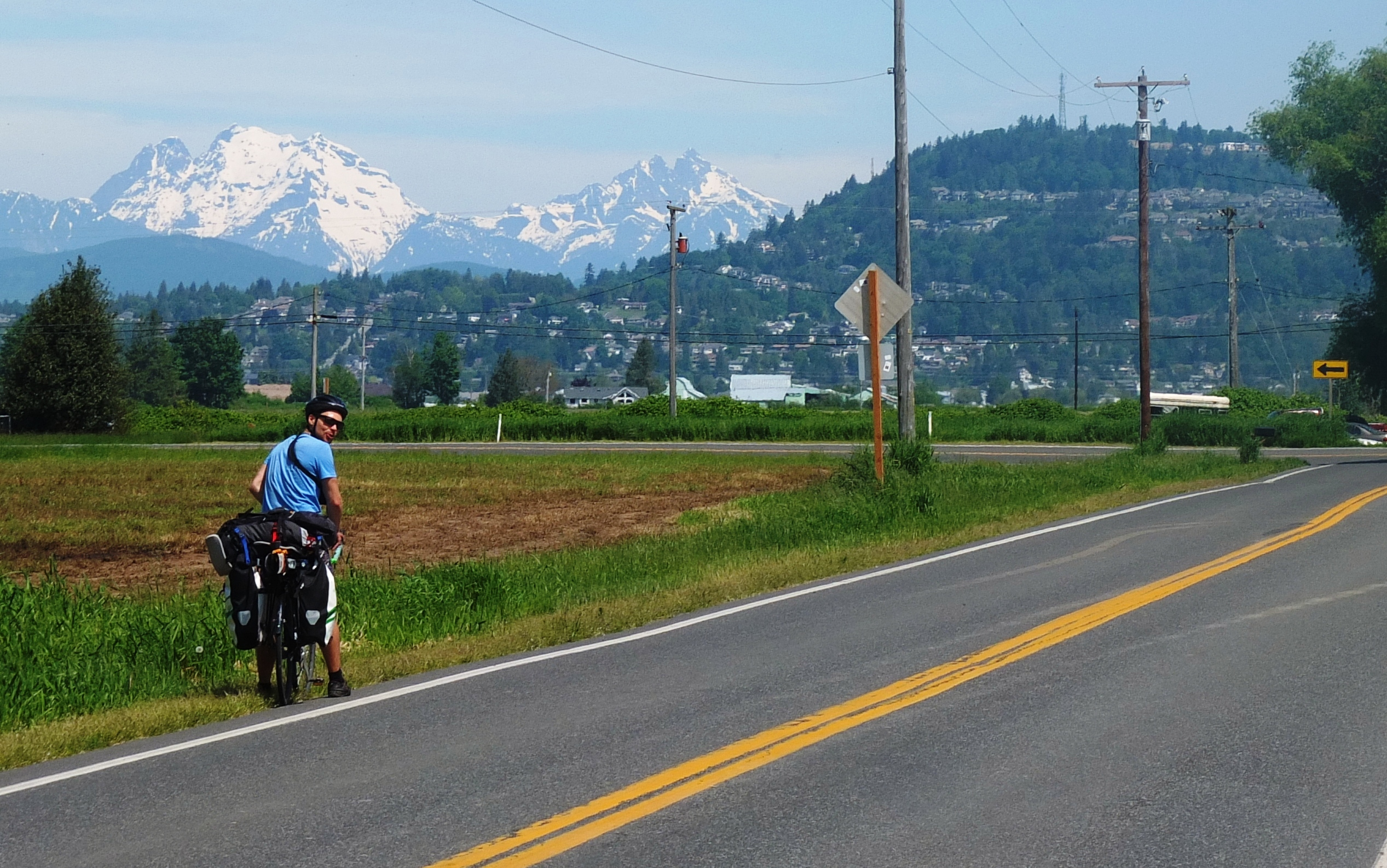 Welcome to bike-touring in Washington! Quiet roads, great scenery.