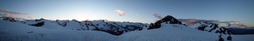 Sunset Panorama from Brew Hut