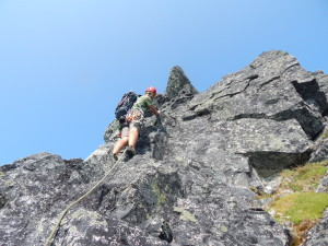 Arran leading the second pitch