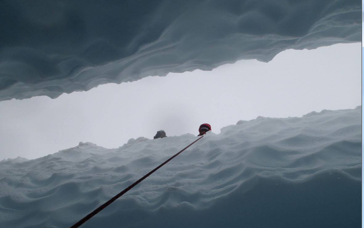 Rescuers, above! Photo Matt Van Ootsdam.