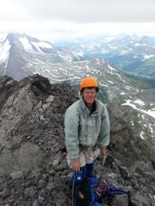 Rocking the JB helmet on the summit