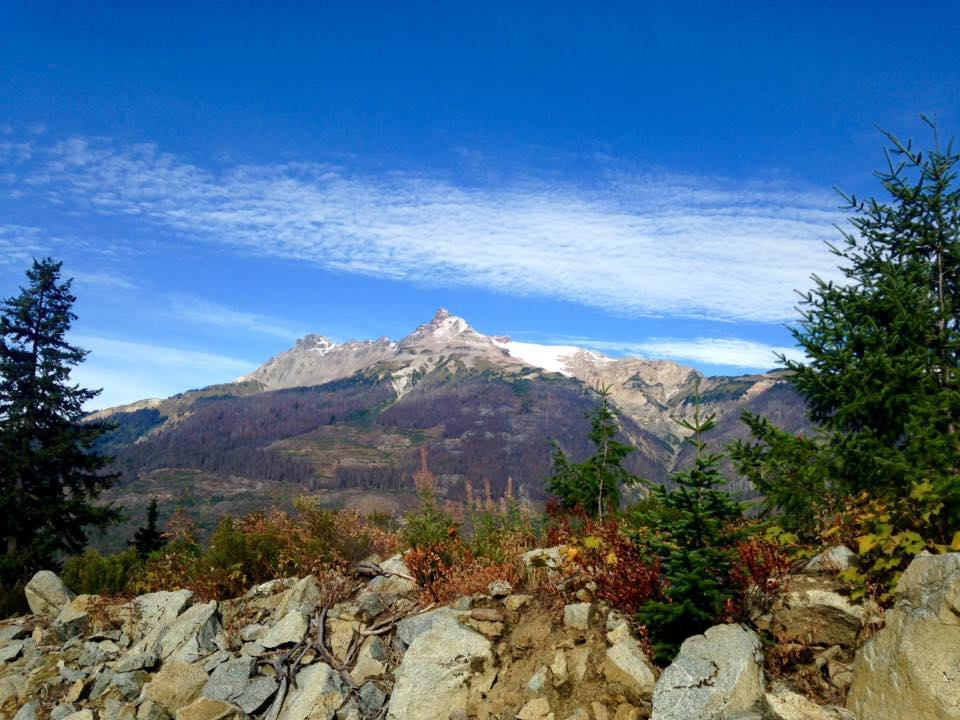Beautiful view of Pylon and Devastation Peak from the Harrison Hut Trail 2017