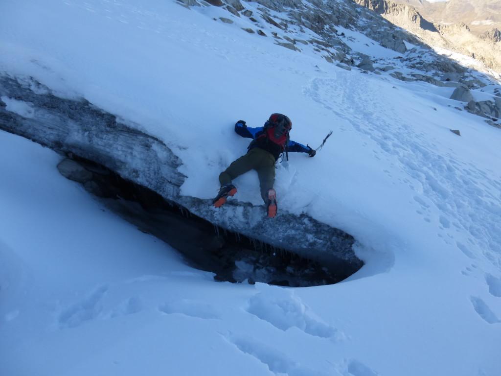 What's left of crevasses
