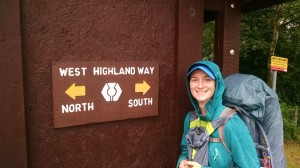 Beginning the West Highland Way in Kinlochleven