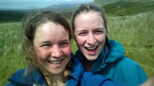 Kelsey and Carly, south of Sligachan