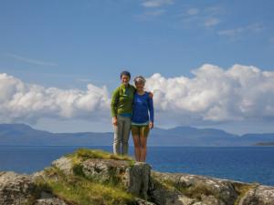 Carly & Kelsey at Camasunary