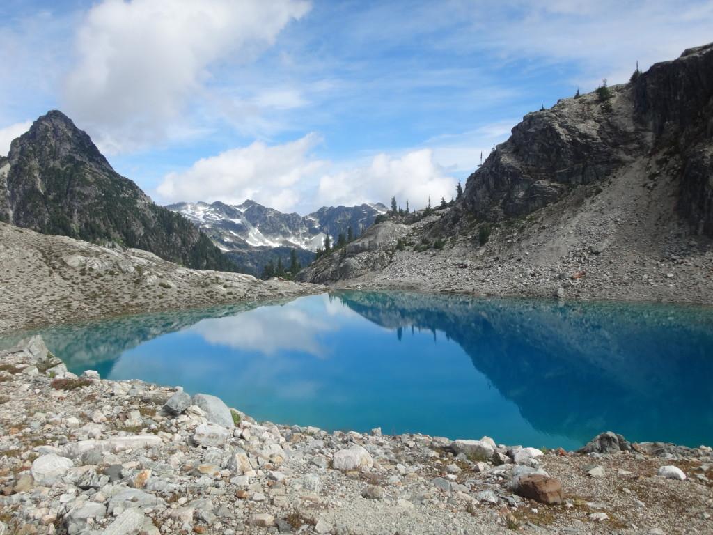 The first lake under Cotard Peak