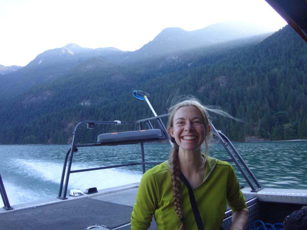 Cassandra's excited about Pitt Lake!