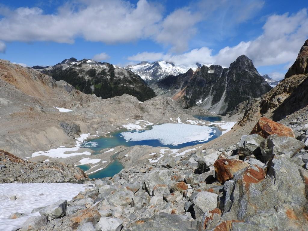 The lakes below Cotard Peak