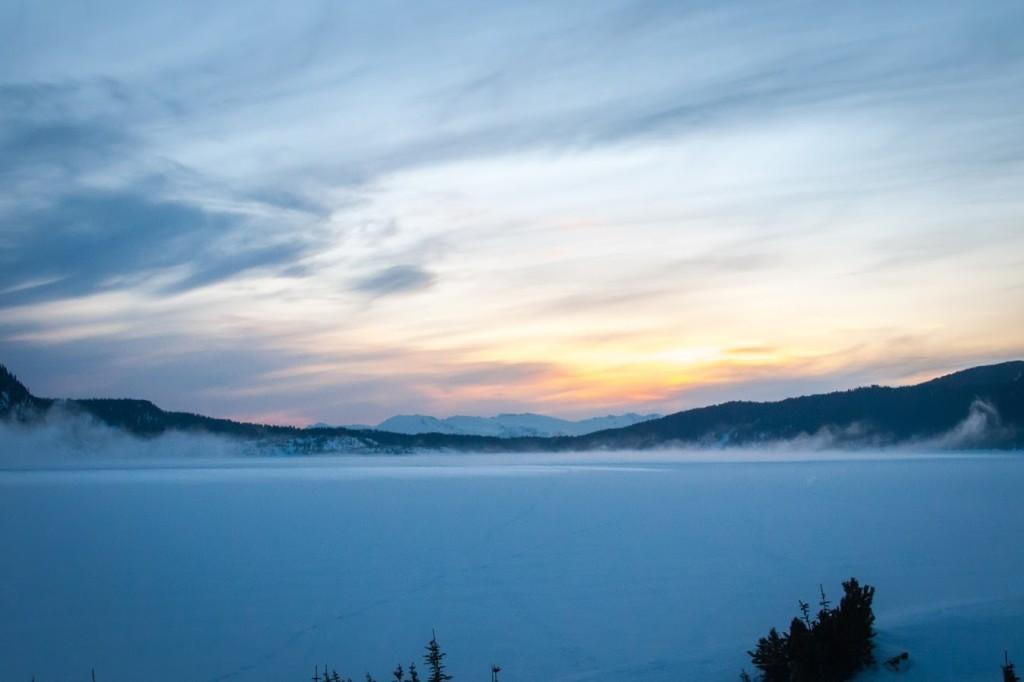 An eerie mist rolls across Garibaldi Lake - Photo Cred: Nick Hindley