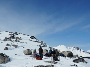 Lunch and no tea near Aragorn peak. Photo: Jake Blanco