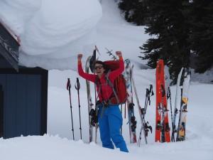 Golnoosh made it to the hut. Photo: Verena Engel