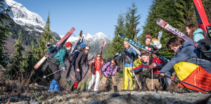 From Right to Left: Jacob Earley (me), Abbi Chapman, Rob Shilton (forgotten ski pants), Sander Keill, Lewis Arnold, Jasmine Tordenro , Bei Bei Morrison Evans, Alister White, Hannah Bates