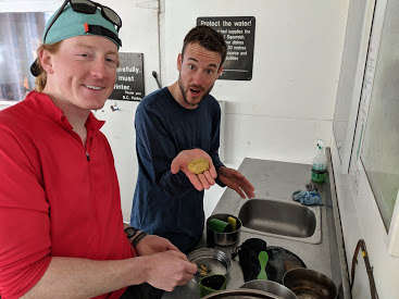 Nick and Freek excited to be making falafels