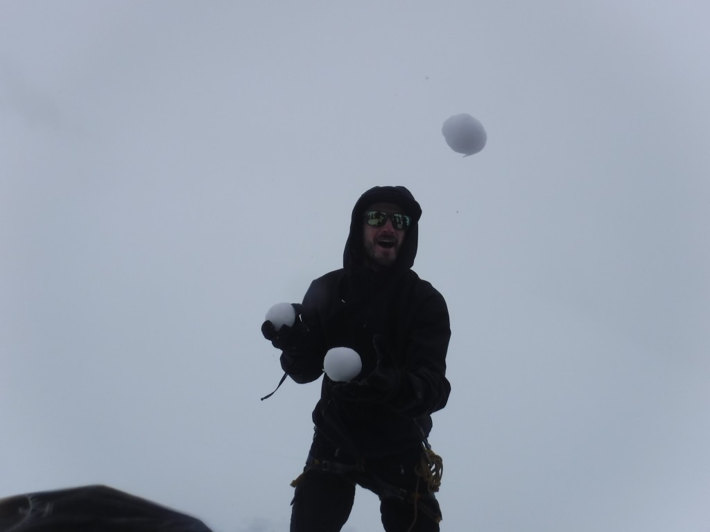 "Luca in ""let's juggle with snowballs since it's the only thing we could do right now"""