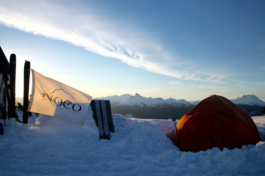 Some brave souls camped outside!  Photo by Tristan VDV