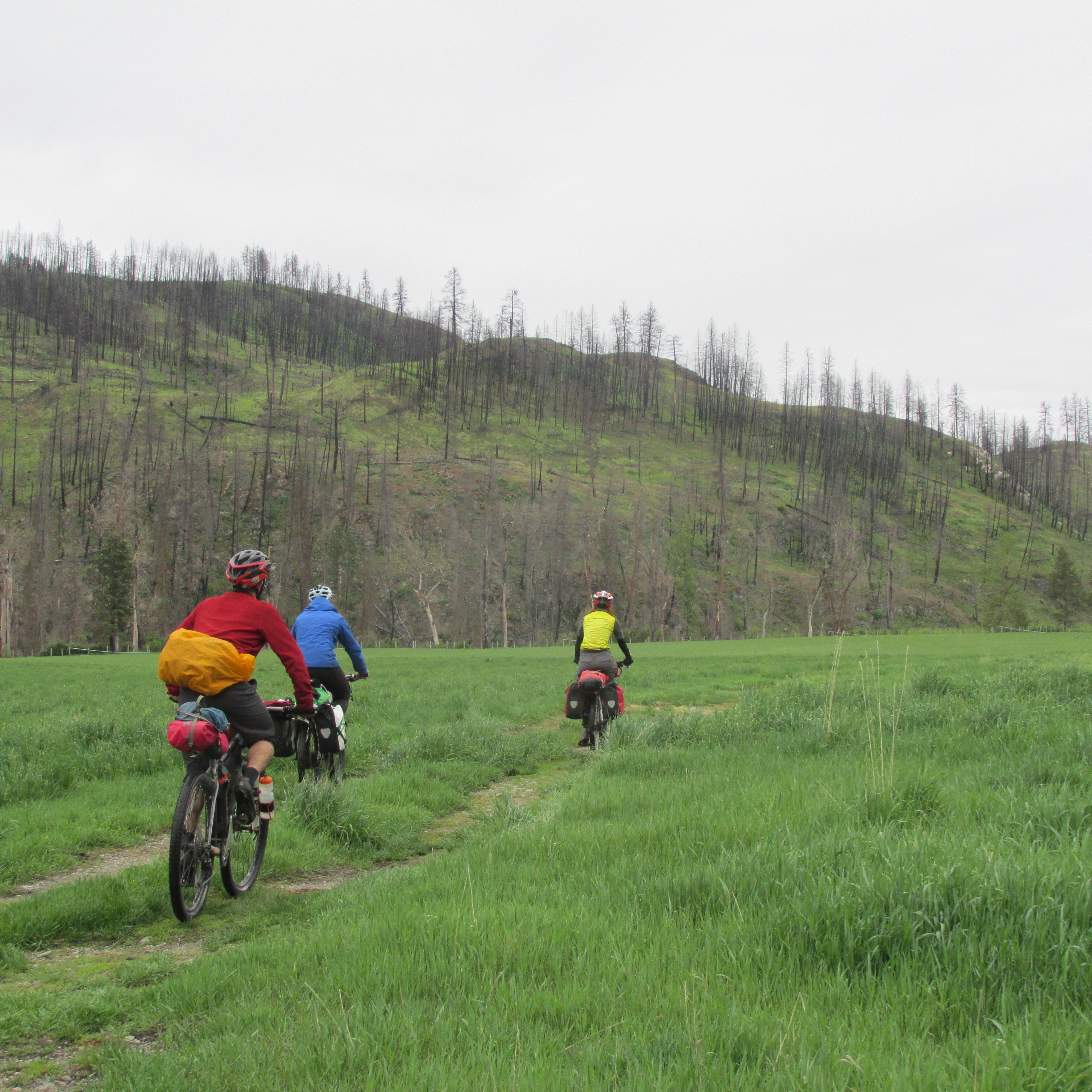 Fun riding along farmfields through the KVR right-of-way. Photo by Elliott Skierszkan.