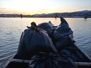garbage sunset