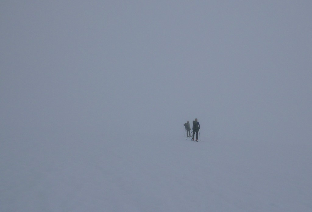 We are unsure where we are going, just like us in this whiteout in the future