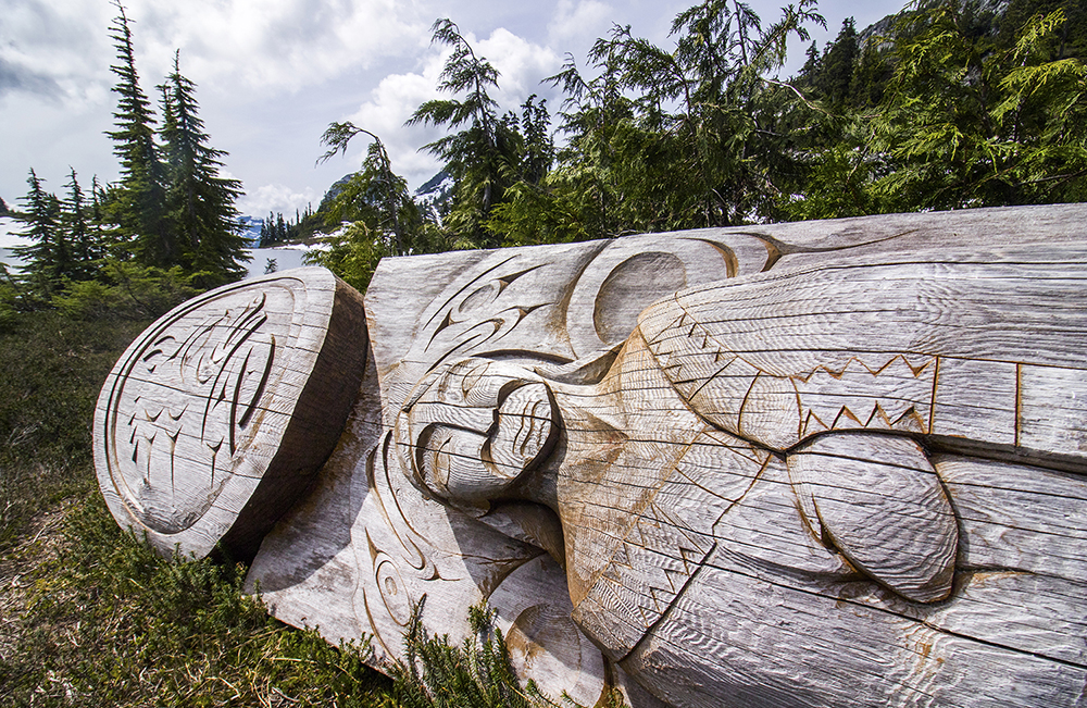 This beautiful carving must mark a very special location to the local First Nations.