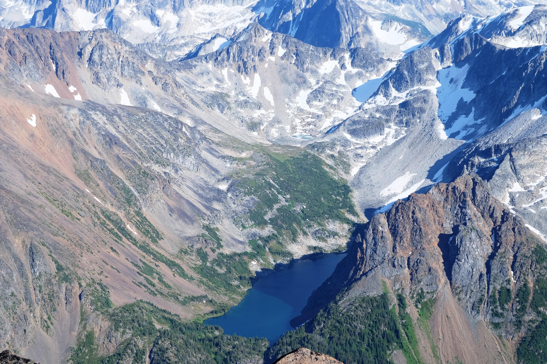 Truax Lake from the summit of Truax. PC Elliott Skierszkan.