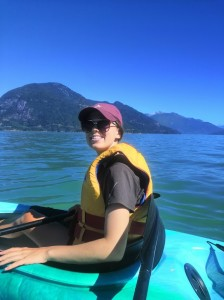Sarah enjoying Howe Sound