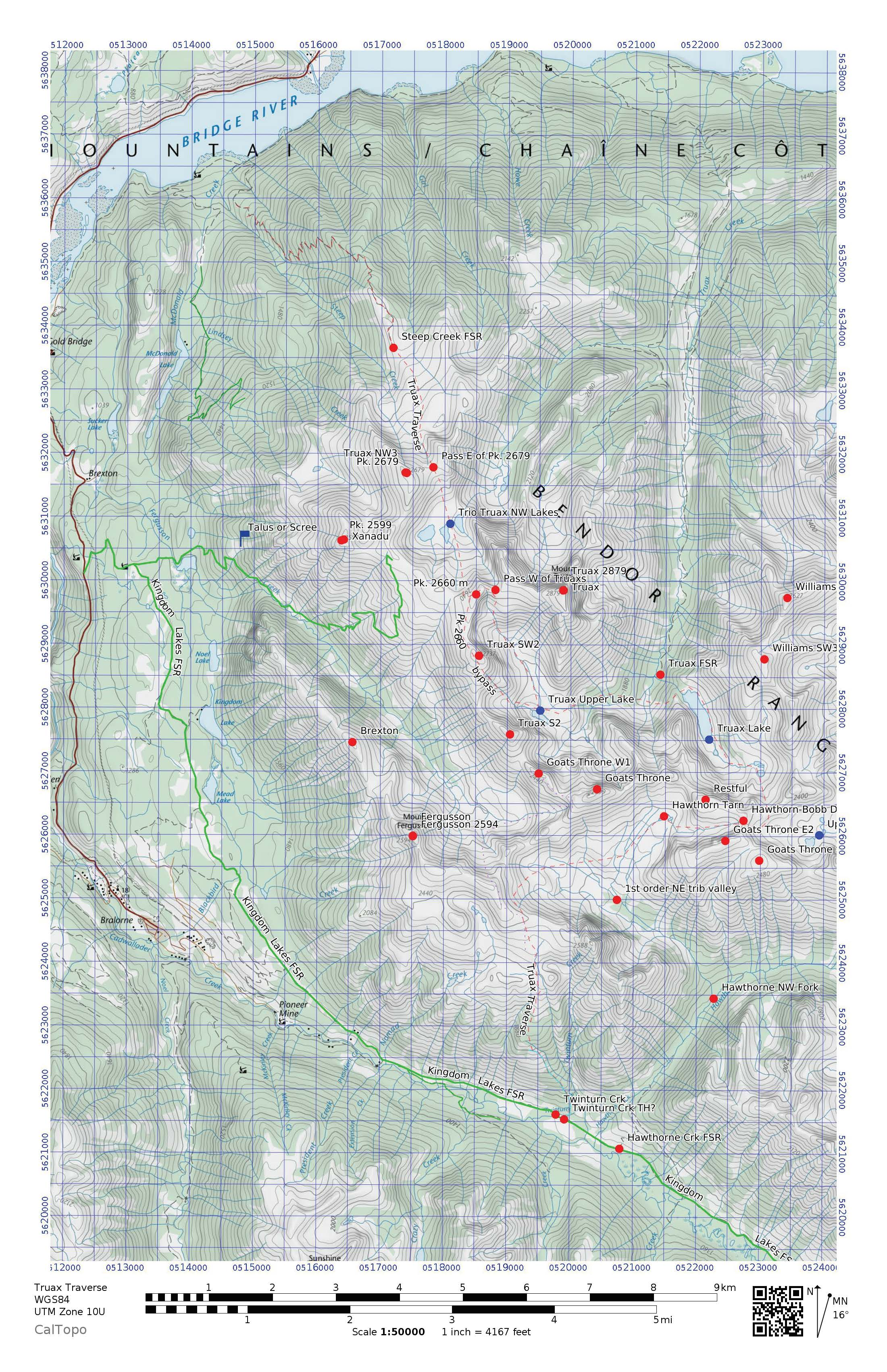 Route map by Elliott Skierszkan.