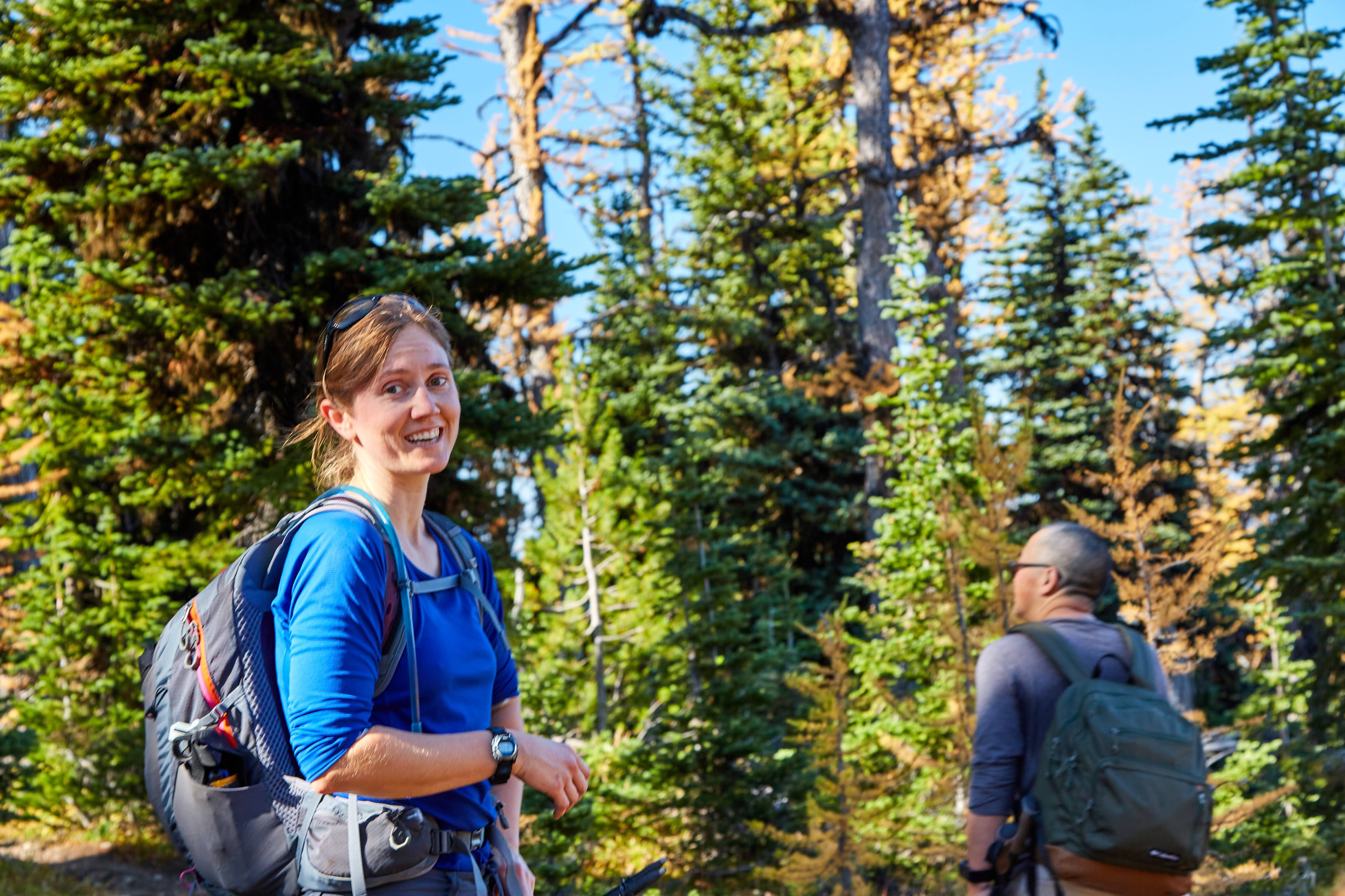 Trip leader and Golden Larches Expert, Beth Roskilly. Photo by Radek Kloska.