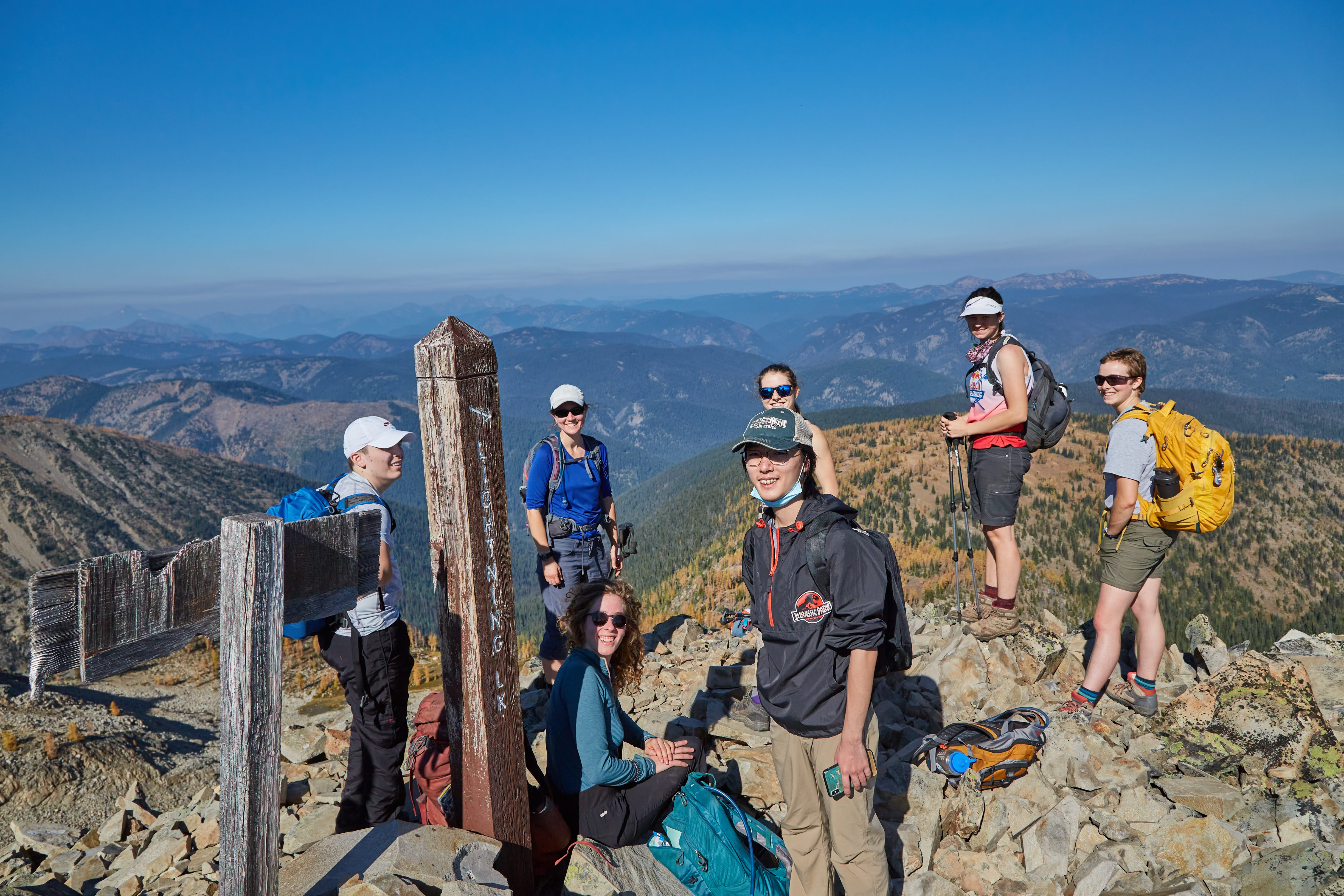 VOC day-hikers at the top of Mt. Frosty. Photo by Radek Kloska.