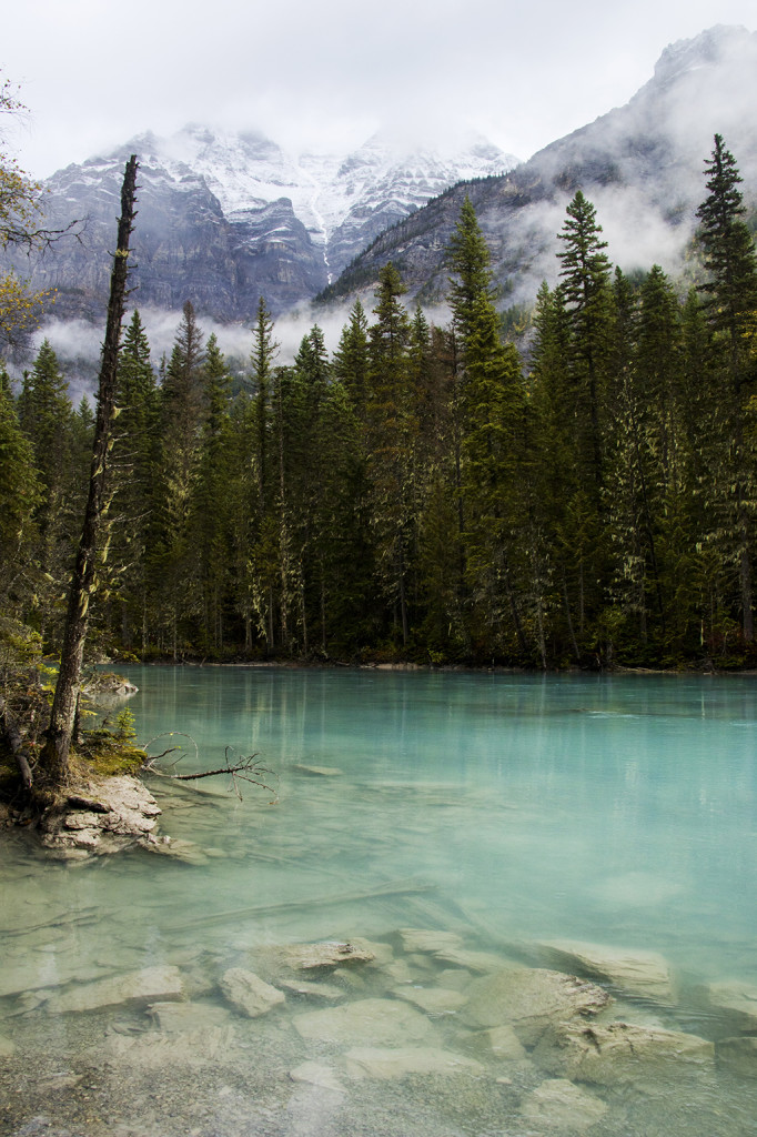 The soothing blue waters of the Robson River calmed my worries about running out of daylight on my hike.