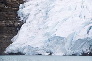 A closer look at the glacier.