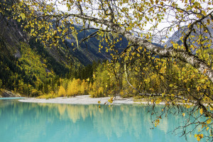There were still lots of fall colors to take in on the shores of Kinney Lake.