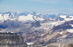 The view north toward the Icefields.