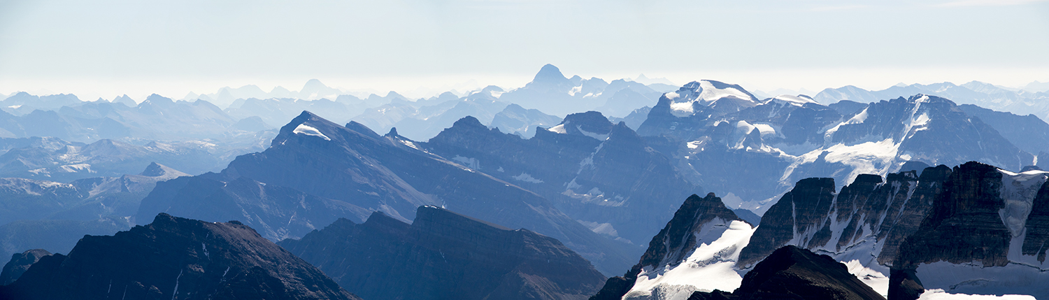 A stunning view, including Mount Assiniboine just right of center.