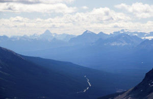 Icefields Parkway, with Mount Assiniboine on the left.