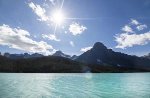 Another roadside alpine lake.