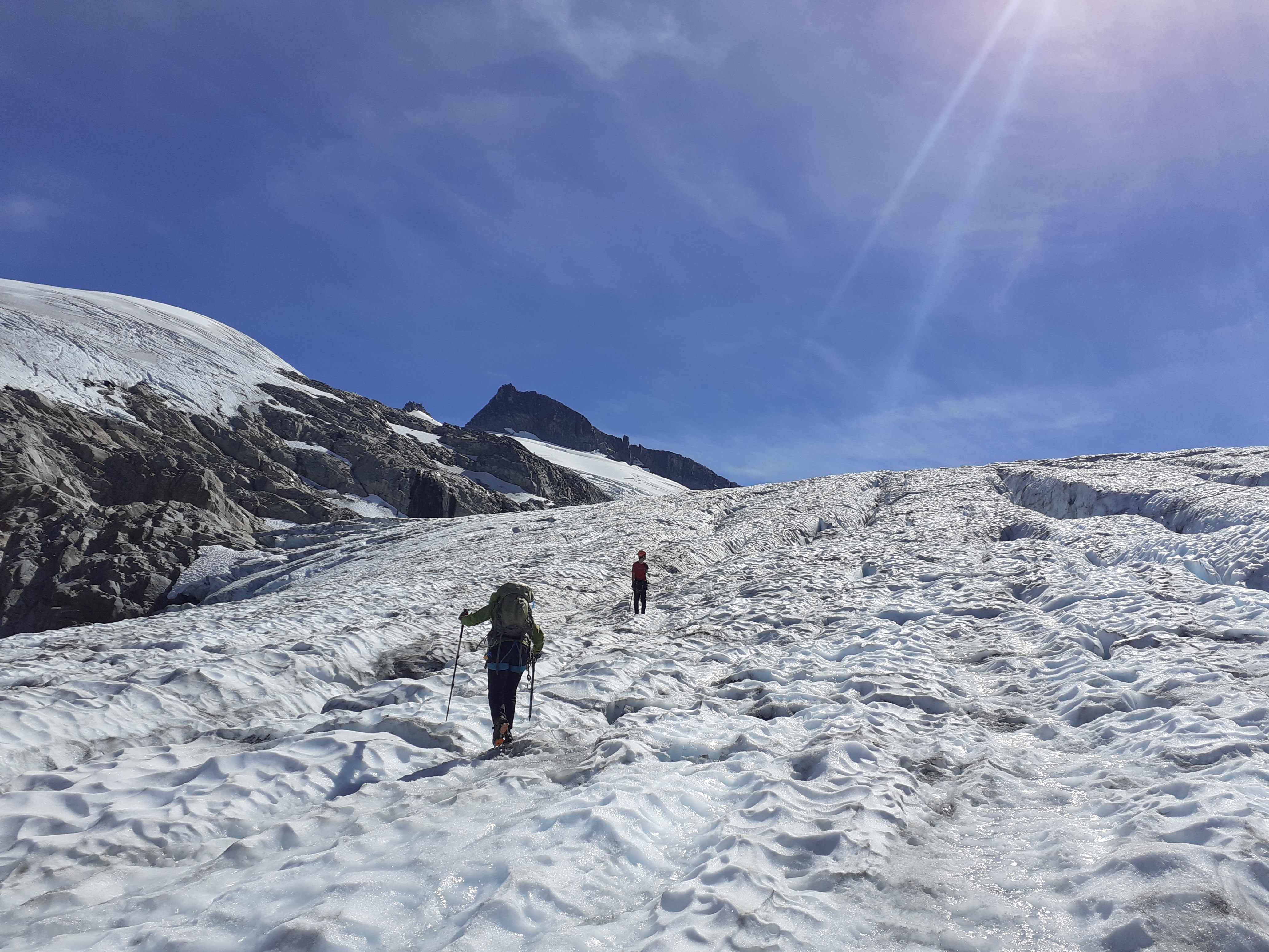 Myself and Andrew on the glacier. Photo by Tom