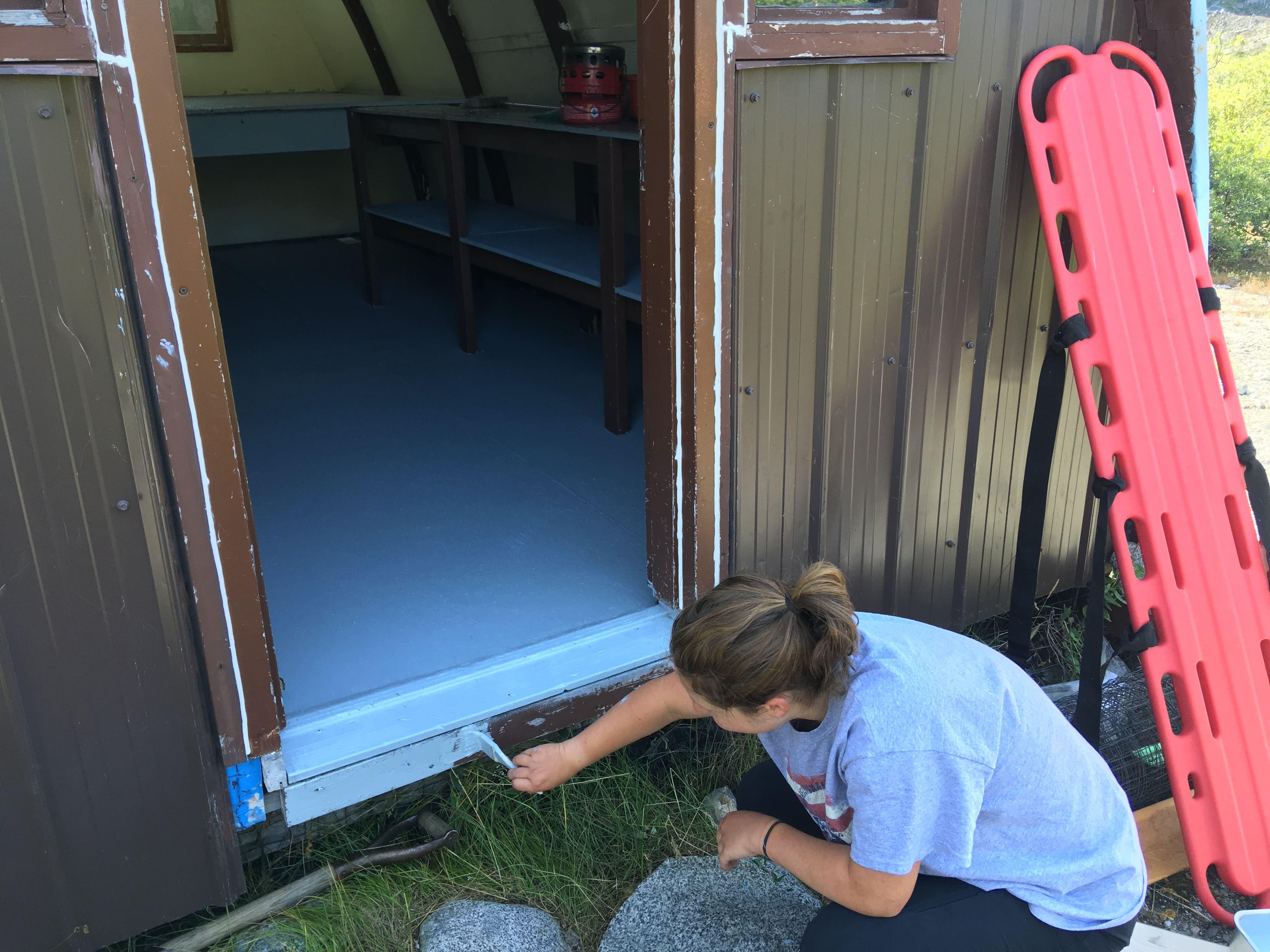 Look, I painted! Photo: Cassandra