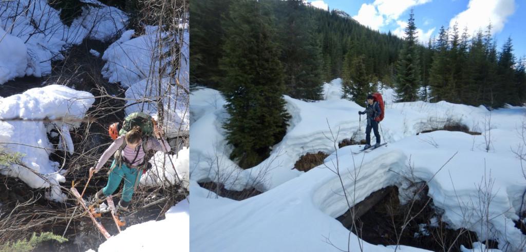 Crossing creeks then vs. now