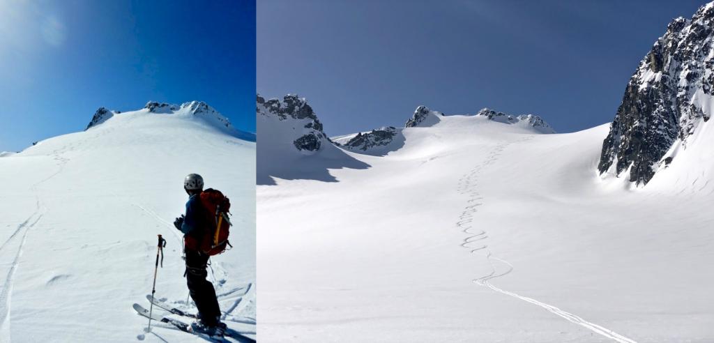 700m of glorious mellow glacier turns.
