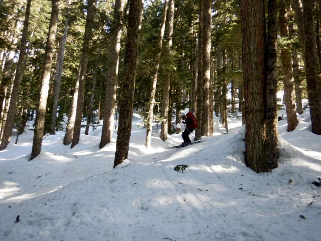 I wish I was skiing like this the whole time in the steep icy forest. (Photo by: Julien R.)