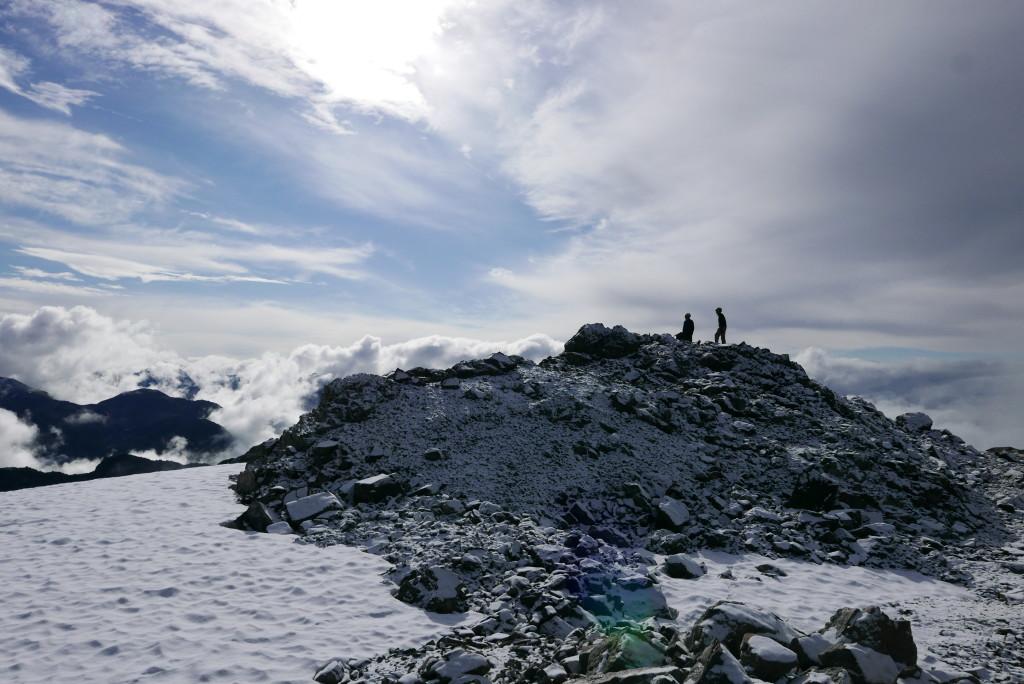 It's definitely not summer on the summit.