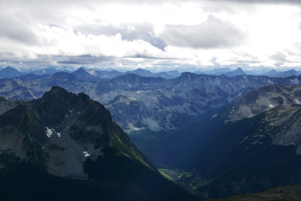 Aragorn and the Phelix area from the summit of McGillivray